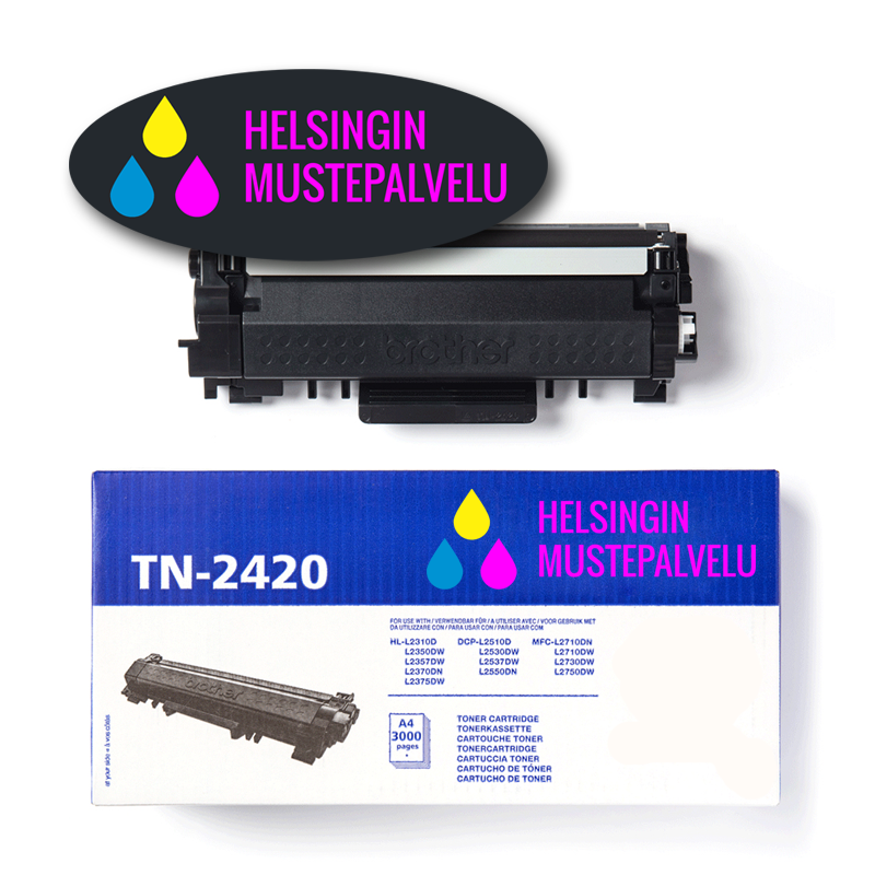 Mustekasetti Brother TN-2420 (TN2420)   Helsingin Mustepalvelu