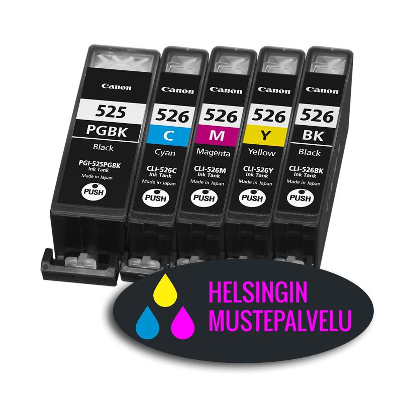 Multipakkaus Canon 4541B009 (CLI-525 CLI-526) PGI-525PGBK CLI-526C CLI-526M CLI-526Y CLI-526BK | Helsingin Mustepalvelu