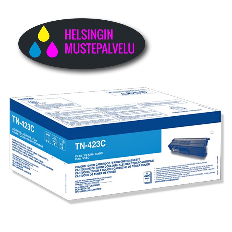 mustekasetti Brother TN-423C (TN423C) cyan sininen | Helsingin Mustepalvelu