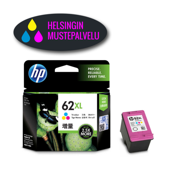 HP 62XL Color mustekasetti 3 väriä   Helsingin Mustepalvelu