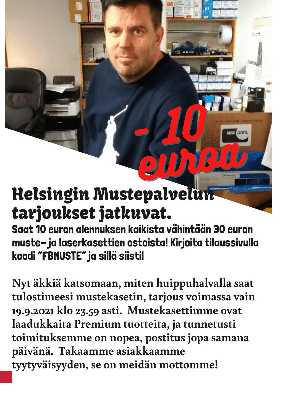10 euron alennus | Helsingin Mustepalvelut - musteet netistä